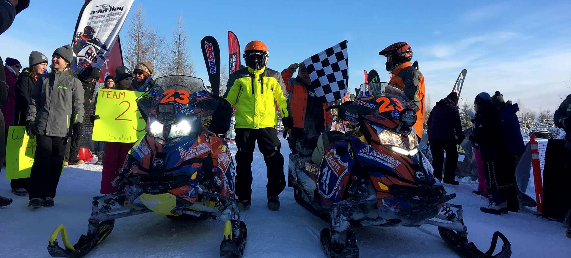 Congratulations Team 23 for completing the 2018 Iron Dog snowmobile race in Fairbanks, Alaska.